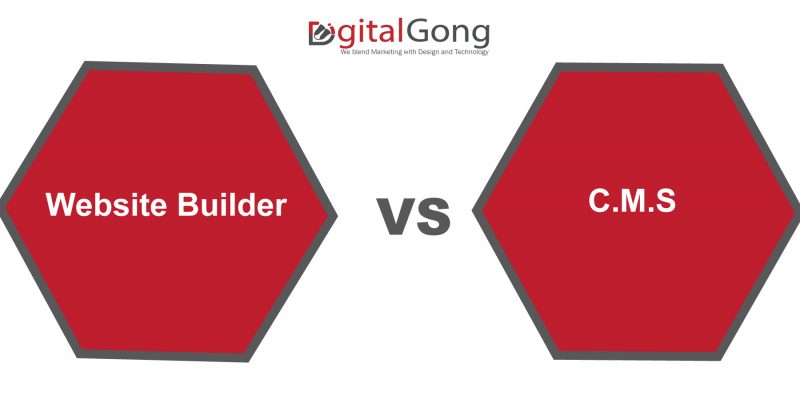differences between website builders and C.M.S
